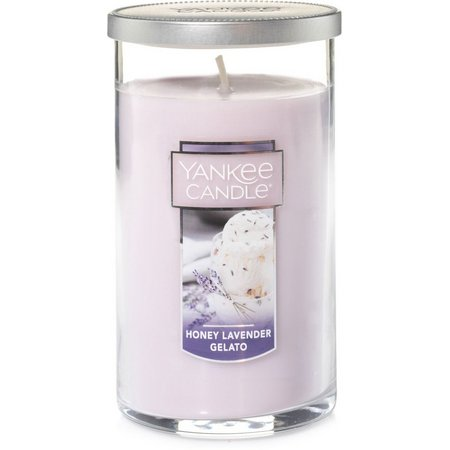 Yankee Candle Honey Lavender Pillar Candle