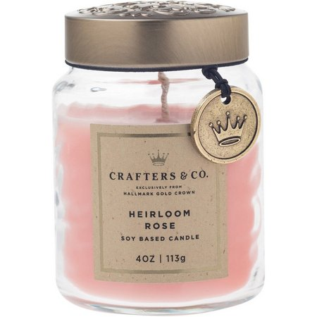 Crafters & Co. Heirloom Rose Soy Jar Candle