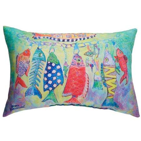 Leoma Lovegrove Fish All Day Outdoor Pillow