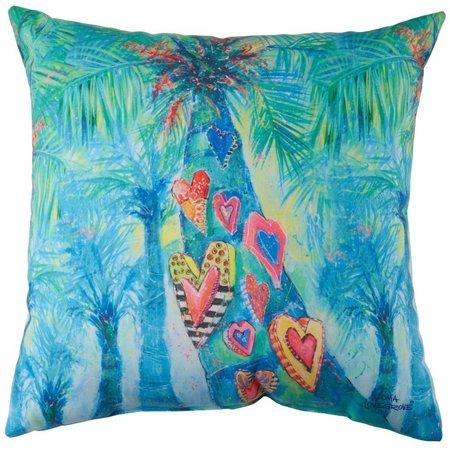 Leoma Lovegrove Hearts Of Palm Outdoor Pillow