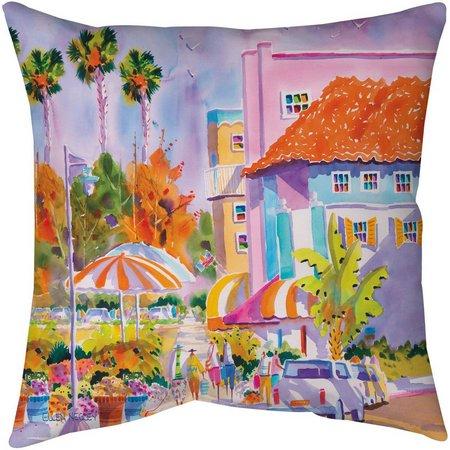 Ellen Negley St. Armands Style Outdoor Pillow