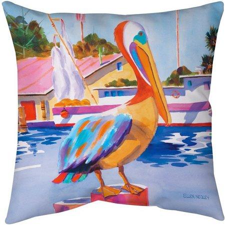 Ellen Negley Pelican Party Decorative Pillow