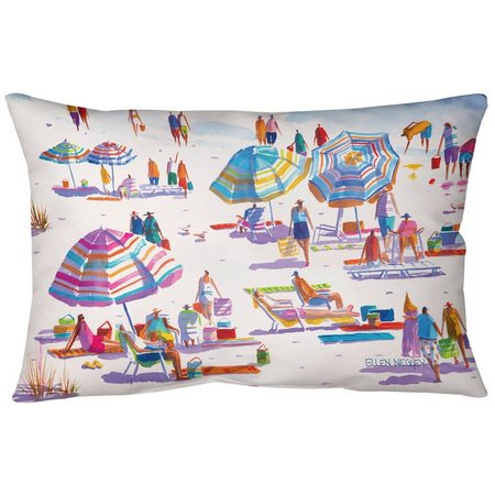 Ellen Negley Sand & Surf Decorative Pillow