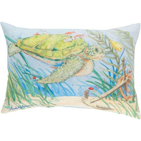 Amber Moran Loggerhead Outdoor Pillow