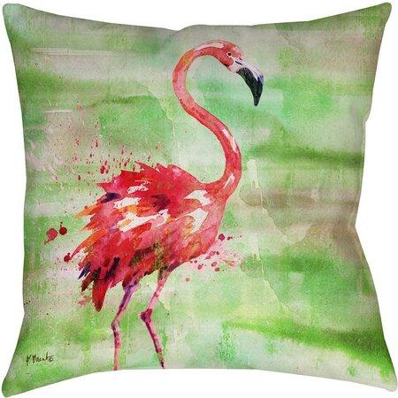 Manual Woodworkers Arianna Flamingo Decorative Pillow