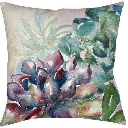Manual Woodworkers Colorful Succulent Decorative Pillow
