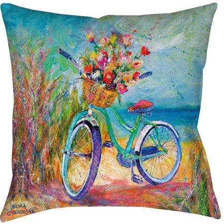 Leoma Lovegrove Beachin' Ride Decorative Pillow