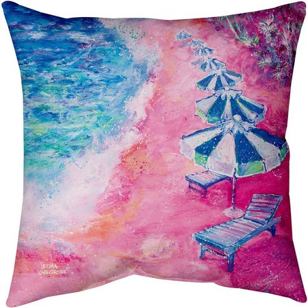 Leoma Lovegrove Lido Beach Decorative Pillow