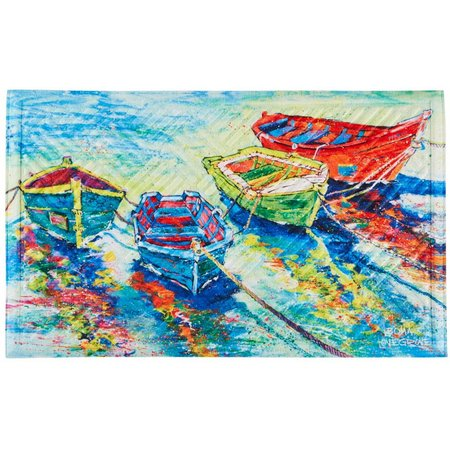 Leoma Lovegrove Friend-Ships Outdoor Mat