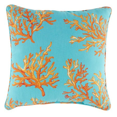Brentwood Surin Coral Square Outdoor Pillow