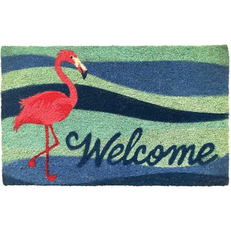 Tropix Flamingo Welcome Coir Mat