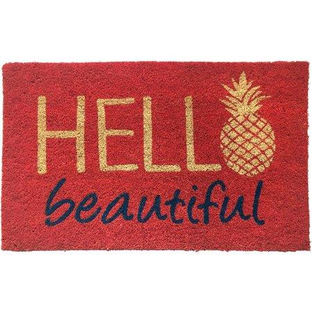Tropix Hello Beautiful Coir Mat