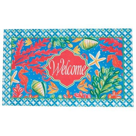 Custom Decor Welcome Sealife Outdoor Mat