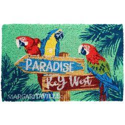 Margaritaville Parrot Sign Coir Mat