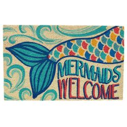 Tropix Mermaids Welcome Coir Mat