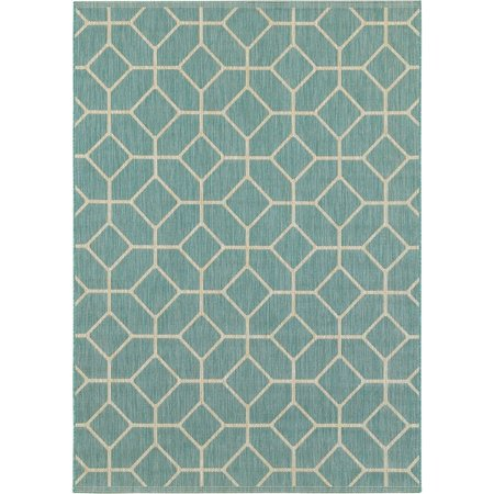 Balta Navy Tiles Area Rug