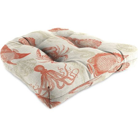 Jordan Manufacturing Sea Life Coral Chair Cushion