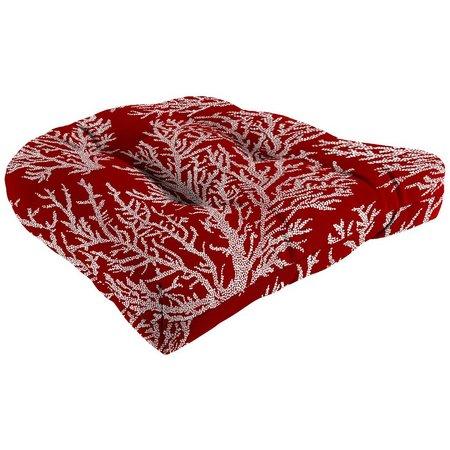 Coastal Home Sea Coral Chair Cushion