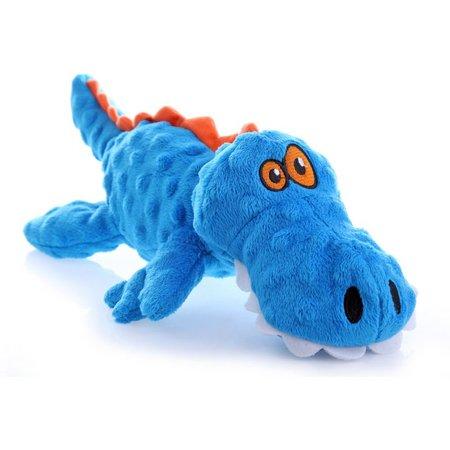 GoDog Small Blue Gator Pet Toy