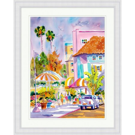 Ellen Negley St. Armands Style Framed Art
