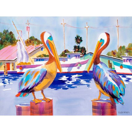 Ellen Negley Pelican Party Framed Art