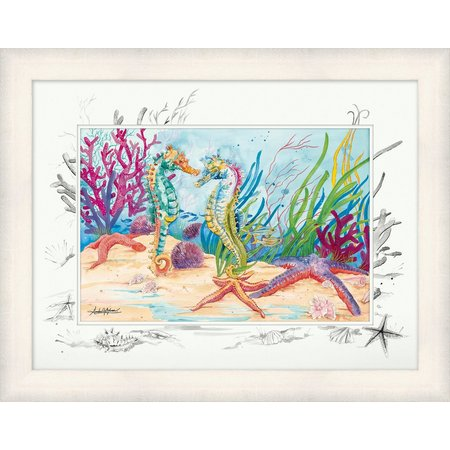 Amber Moran Seahorse Garden Framed Art