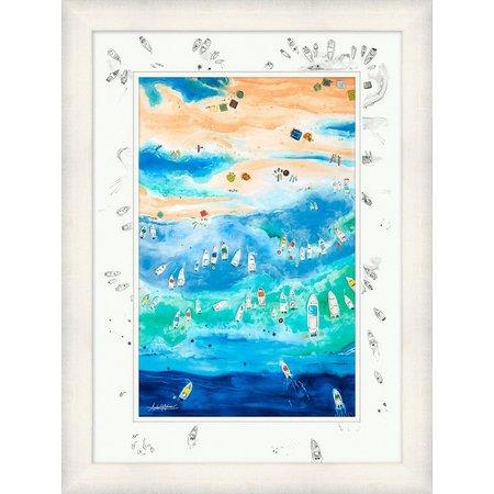 Amber Moran Florida Sandbar Framed Art