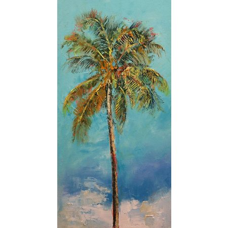 Coastal Home Abstract Palm Tree Canvas Wall Art