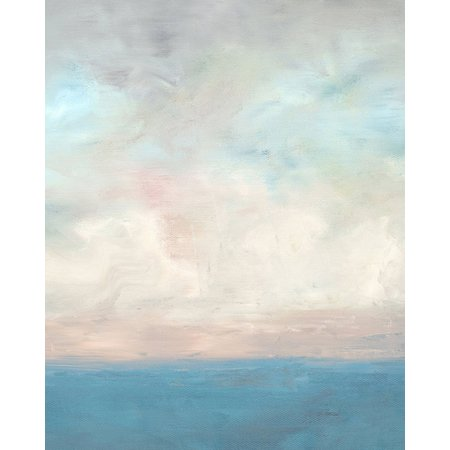 Coastal Home Abstract Clouds Canvas Wall Art