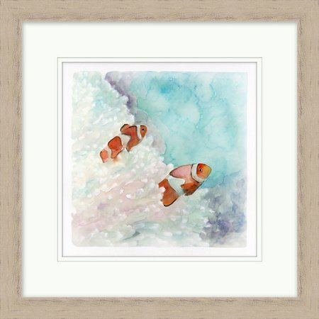 Coastal Home Clownfish Framed Art