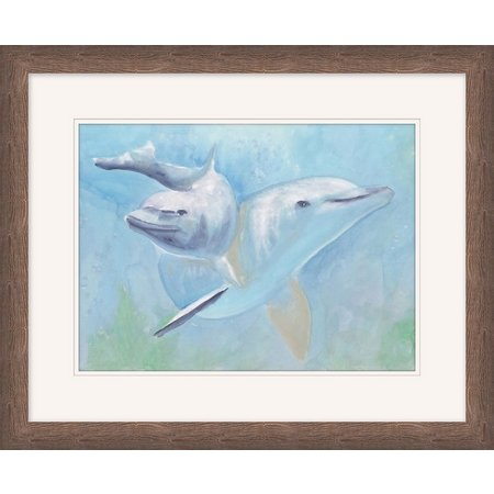 Coastal Home Dolphin Pair Framed Art