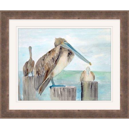 Coastal Home Pelican Port I Framed Art