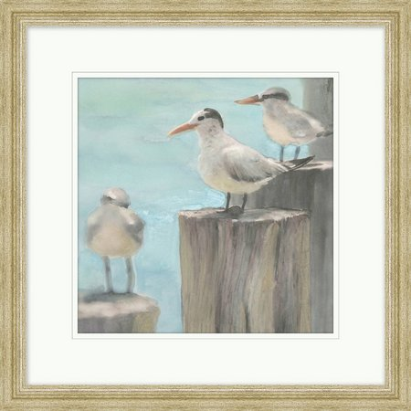 Coastal Home Seagulls On The Pier Framed Art