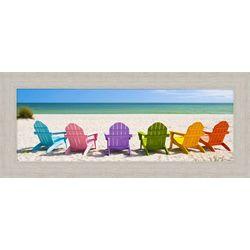 Palm Island Home Beach Chairs Framed Art
