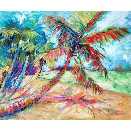 Leoma Lovegrove Palms Away Canvas Art