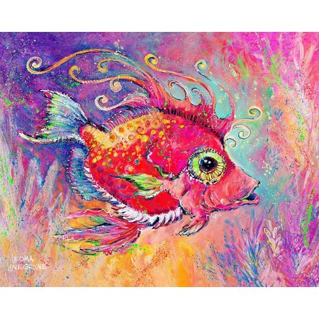 Leoma Lovegrove Fish Called Calda Canvas Art