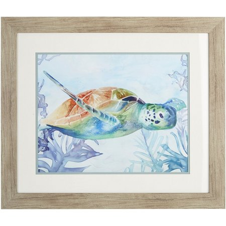 Palm Island Home Ocean Turtle I Framed Wall