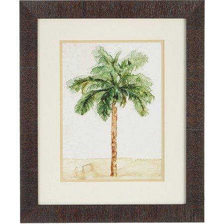 Palm Island Home Watercolor Palm I Framed Wall