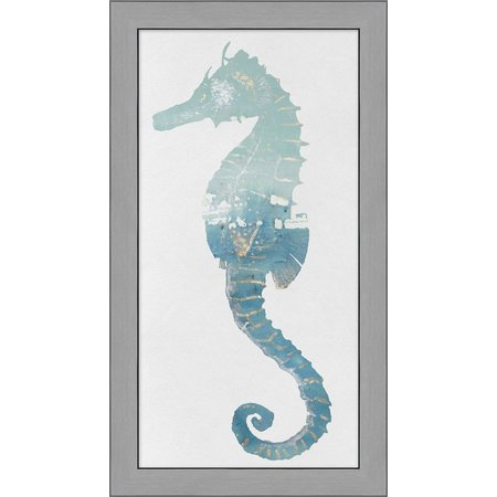 Palm Island Home Watercolor Seahorse Framed Art
