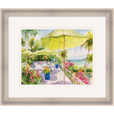 Palm Island Home Island Umbrella Framed Art