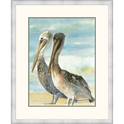 Palm Island Home Pelicans Side By Side Framed