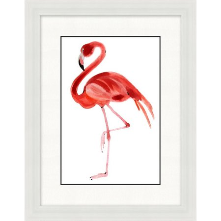 Palm Island Home Flamingo Stance Framed Wall Art