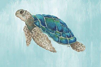 Perfect Palm Island Home Watercolor Sea Turtle Wall Art