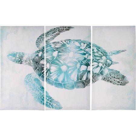 Palm Island Home 3-pc. Sea Turtle Canvas Art