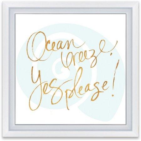 Artissimo Ocean Breeze Framed Wall Art