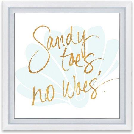 Artissimo Sandy Toes Framed Wall Art