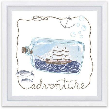 Artissimo Adventure Ship In Bottle Framed Wall Art