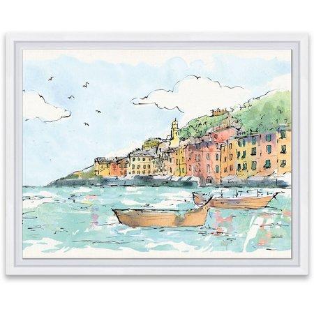 Artissimo Portofino I Framed Wall Art