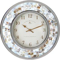 FirsTime 10'' Pearl Mosaic Clock