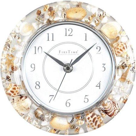 FirsTime 8'' Seashell Clock